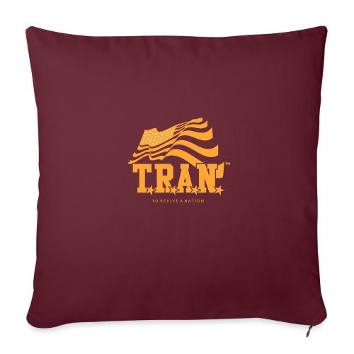 """TRAN Gold Club - Throw Pillow Cover 18"""" x 18"""""""