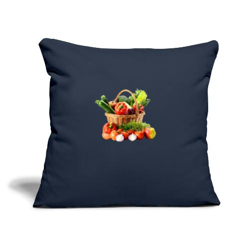 """Vegetable transparent - Throw Pillow Cover 17.5"""" x 17.5"""""""
