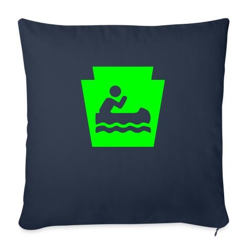 "Pennsylvania Keystone Boater PA - Throw Pillow Cover 17.5"" x 17.5"""