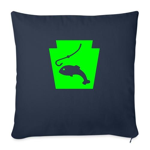 "Pennsylvania Fishing Keystone PA - Throw Pillow Cover 17.5"" x 17.5"""
