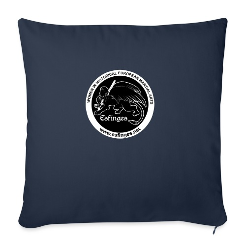 "Esfinges Logo Black - Throw Pillow Cover 18"" x 18"""