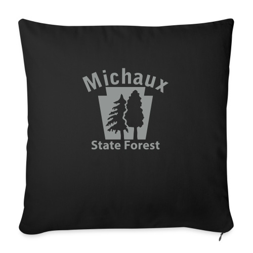 """Michaux State Forest Keystone (w/trees) - Throw Pillow Cover 18"""" x 18"""""""