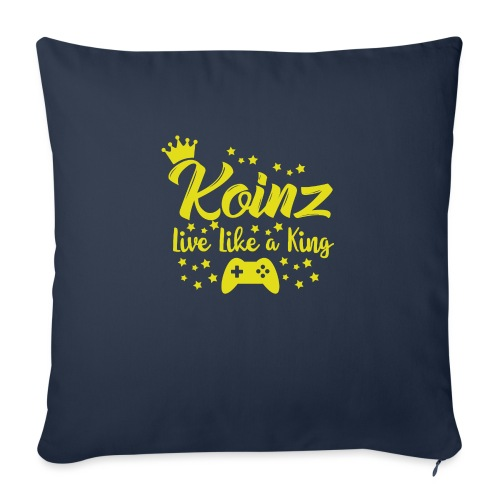 """Live Like A King - Throw Pillow Cover 18"""" x 18"""""""