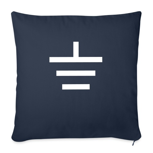 """GROUNDED - BASEBALL CAP - Throw Pillow Cover 18"""" x 18"""""""