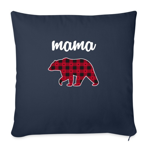 "Mama Bear - Throw Pillow Cover 18"" x 18"""