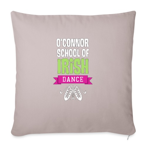 "OSID Pink & Green Logo - Throw Pillow Cover 17.5"" x 17.5"""