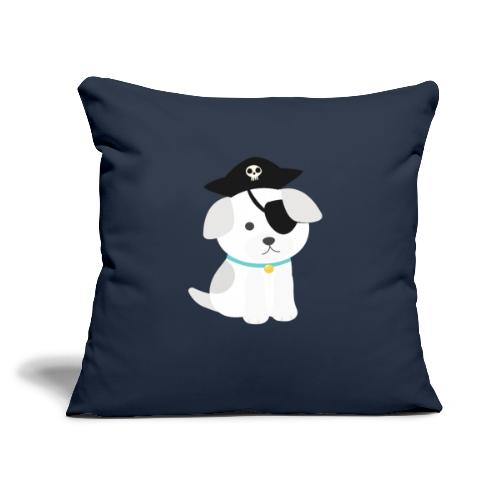"""Dog with a pirate eye patch doing Vision Therapy! - Throw Pillow Cover 17.5"""" x 17.5"""""""