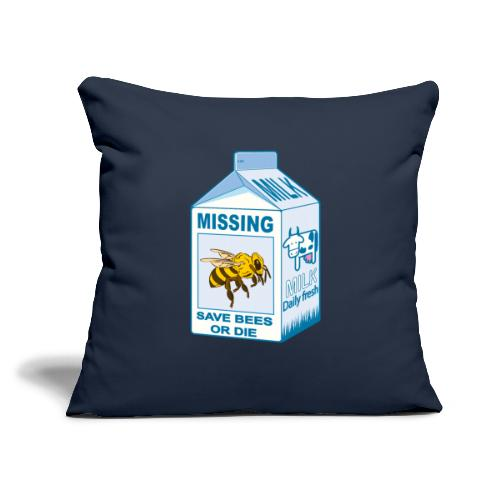 """Missing Bees - Throw Pillow Cover 18"""" x 18"""""""