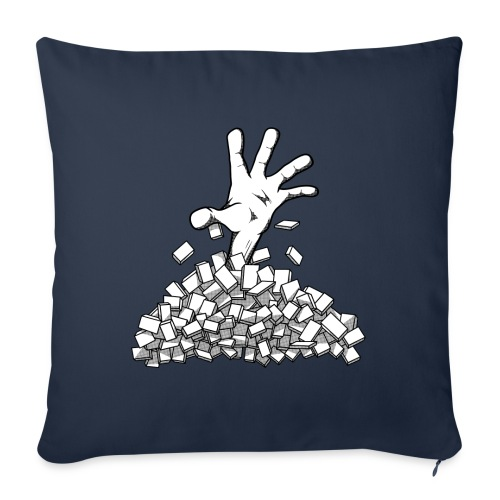 """Buried by your backlog - Throw Pillow Cover 17.5"""" x 17.5"""""""