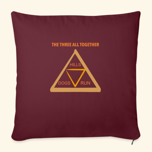 """Run4Dogs Triangle - Throw Pillow Cover 17.5"""" x 17.5"""""""