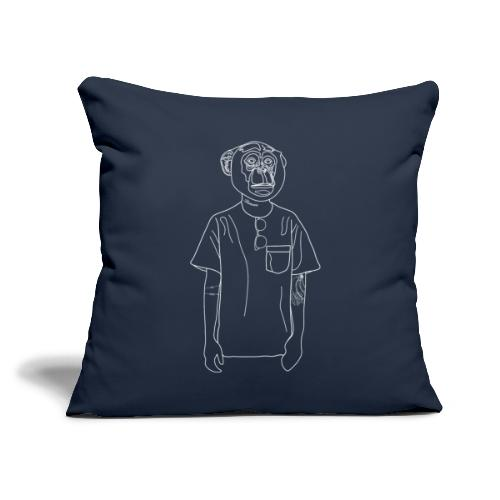 "Hipster Monkey - Throw Pillow Cover 18"" x 18"""