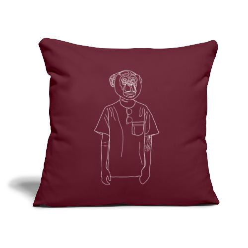 """Hipster Monkey - Throw Pillow Cover 17.5"""" x 17.5"""""""