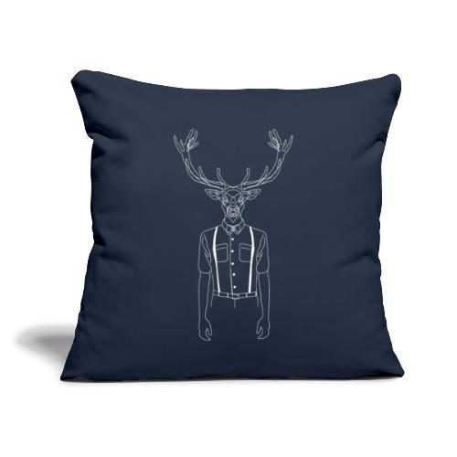 "Hipster Stag - Throw Pillow Cover 18"" x 18"""