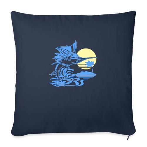 "Sailfish - Throw Pillow Cover 17.5"" x 17.5"""