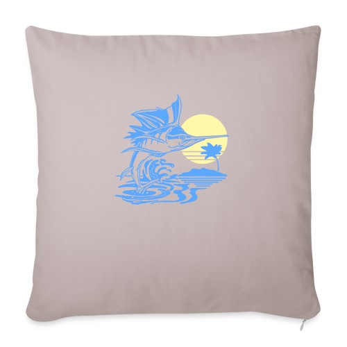 "Sailfish - Throw Pillow Cover 17.5"" x 17.5"""