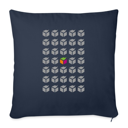 "grid semantic web - Throw Pillow Cover 18"" x 18"""
