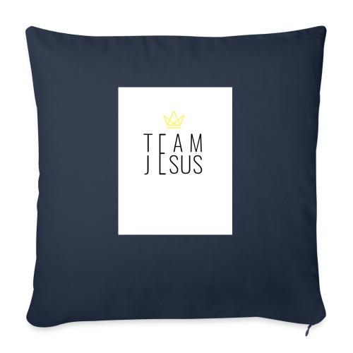 "TEAM JESUS3 - Throw Pillow Cover 18"" x 18"""