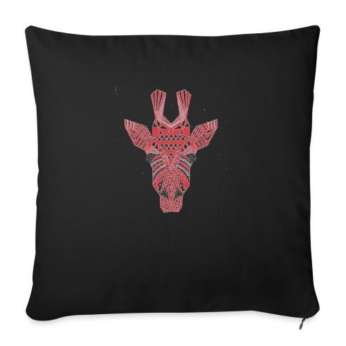 "Giraffe Head - Throw Pillow Cover 18"" x 18"""