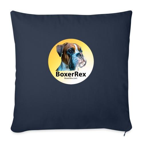 """Boxer Rex logo - Throw Pillow Cover 17.5"""" x 17.5"""""""