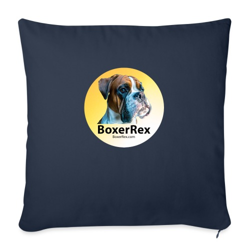 "Boxer Rex logo - Throw Pillow Cover 18"" x 18"""