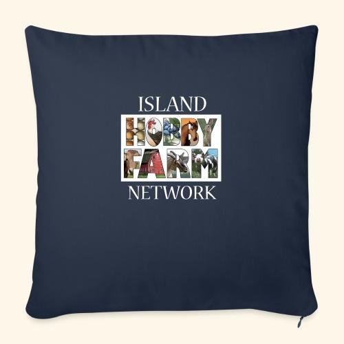 """Island Hobby Farm White Logo - Throw Pillow Cover 17.5"""" x 17.5"""""""