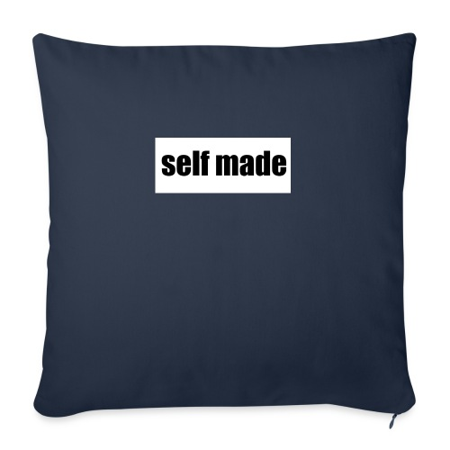 "self made tee - Throw Pillow Cover 18"" x 18"""
