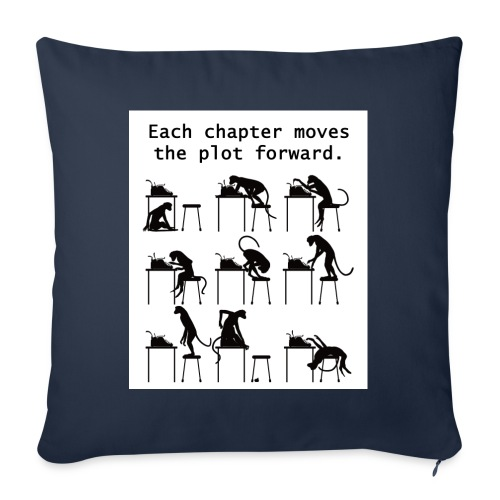 """Writer's Advice - Part 3 - Throw Pillow Cover 17.5"""" x 17.5"""""""