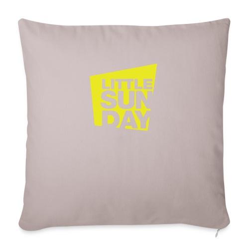 "littleSUNDAY Official Logo - Throw Pillow Cover 17.5"" x 17.5"""