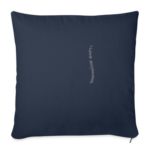 """I love skydiving/T-shirt/BookSkydive - Throw Pillow Cover 17.5"""" x 17.5"""""""