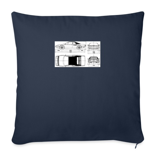 "artists rendering - Throw Pillow Cover 17.5"" x 17.5"""