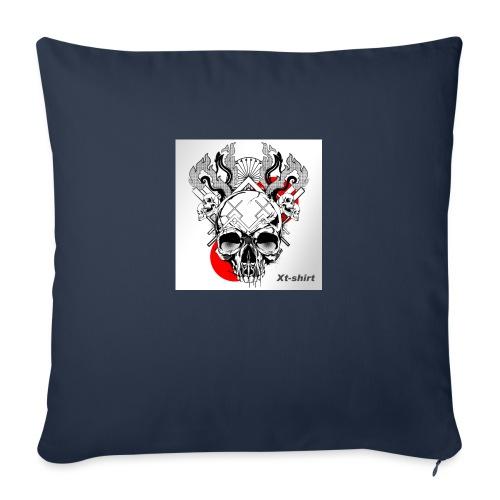 """zt flameskull 01 - Throw Pillow Cover 17.5"""" x 17.5"""""""