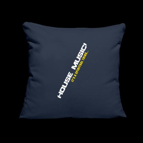 """House Music - Throw Pillow Cover 17.5"""" x 17.5"""""""