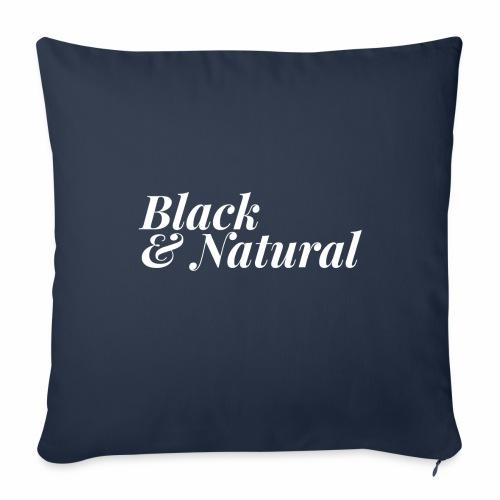 "Black & Natural Women's - Throw Pillow Cover 17.5"" x 17.5"""