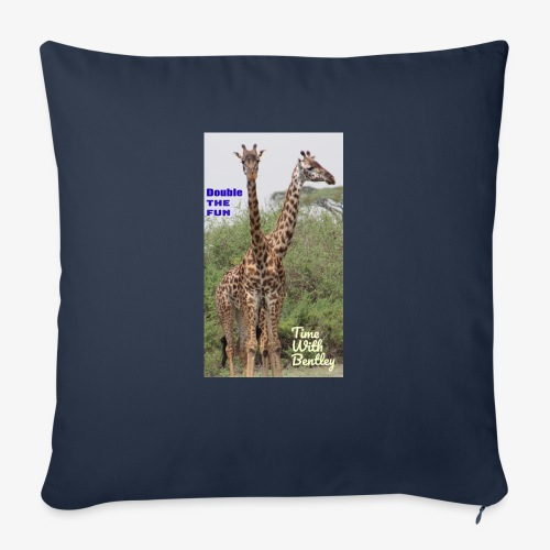 "Two Headed Giraffe - Throw Pillow Cover 18"" x 18"""