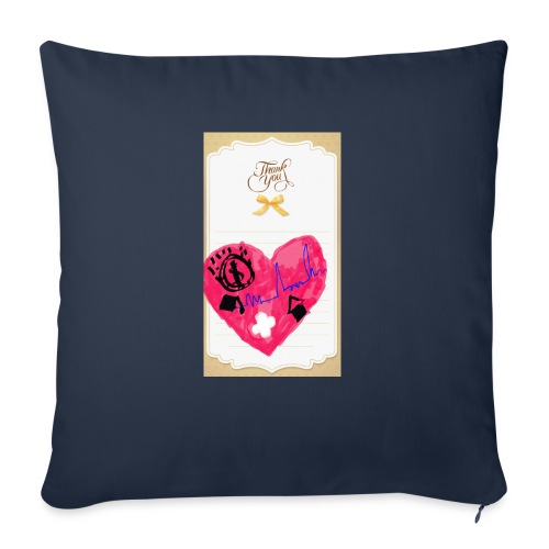 """Heart of Economy 1 - Throw Pillow Cover 17.5"""" x 17.5"""""""