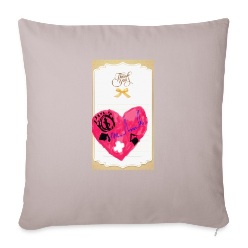 "Heart of Economy 1 - Throw Pillow Cover 17.5"" x 17.5"""