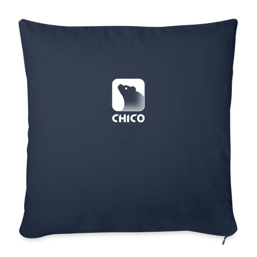 """Chico's Logo with Name - Throw Pillow Cover 18"""" x 18"""""""