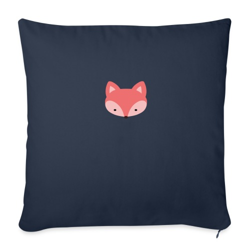 "Fox Gift Logo - Throw Pillow Cover 18"" x 18"""