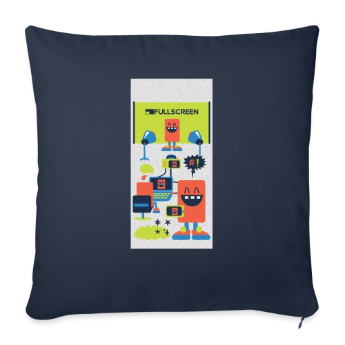 """iphone5screenbots - Throw Pillow Cover 18"""" x 18"""""""