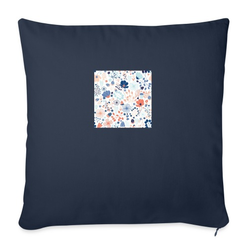 "flowers - Throw Pillow Cover 17.5"" x 17.5"""