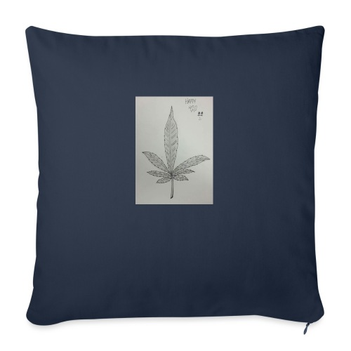 "Happy 420 - Throw Pillow Cover 17.5"" x 17.5"""