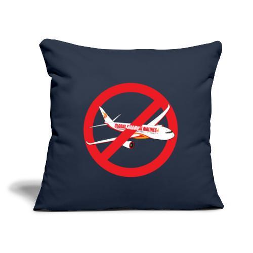 """Flight shame - Flygskam - Throw Pillow Cover 18"""" x 18"""""""