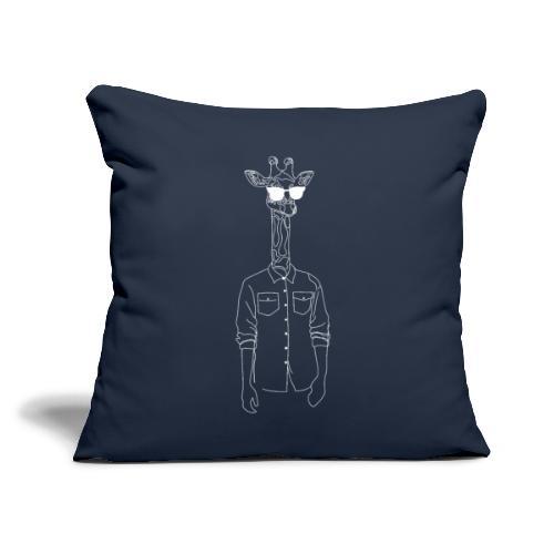 "Hipster Giraffe White - Throw Pillow Cover 18"" x 18"""