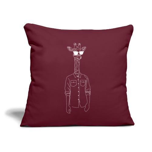 "Hipster Giraffe White - Throw Pillow Cover 17.5"" x 17.5"""