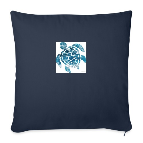 "turtle - Throw Pillow Cover 17.5"" x 17.5"""