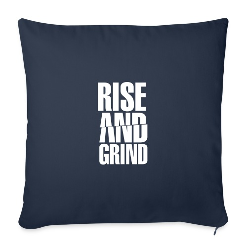 """Rise & Grind - Throw Pillow Cover 18"""" x 18"""""""