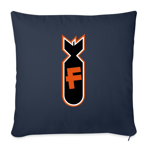 """Character Crusade Fbomb - Throw Pillow Cover 18"""" x 18"""""""