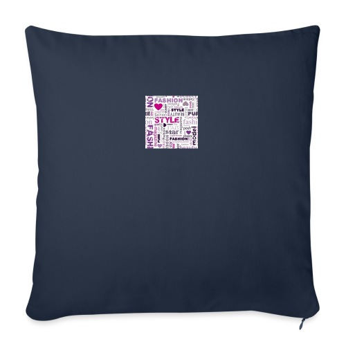 """fashion word collage - Throw Pillow Cover 17.5"""" x 17.5"""""""