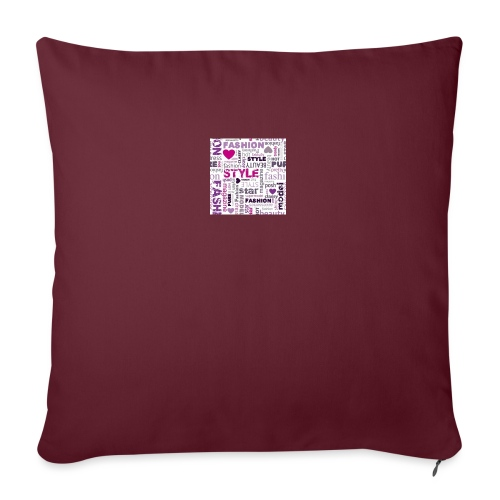 "fashion word collage - Throw Pillow Cover 17.5"" x 17.5"""