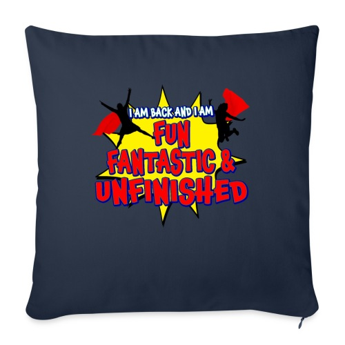 """Unfinished girls jumping - Throw Pillow Cover 18"""" x 18"""""""